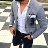 Picture of Grey jacket with black trousers