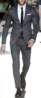 Picture of Charcoal grey two-piece suit