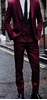 Picture of Burgundy three-piece suit