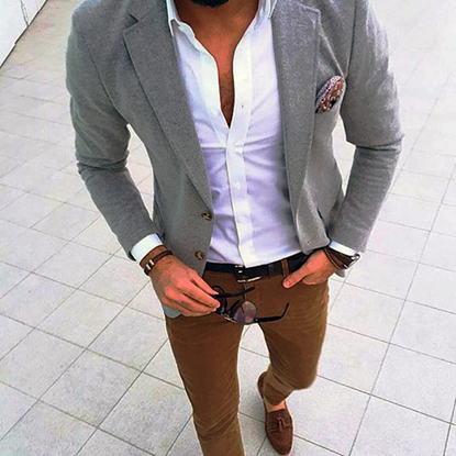 Picture of Slim-Fit Grey Jacket