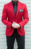 Picture of Red Jacket with Black Trousers
