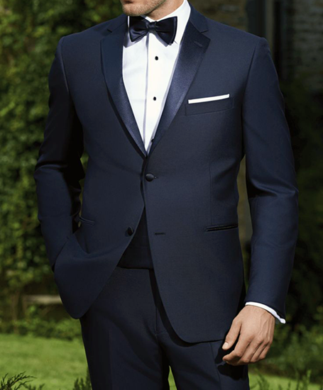 Picture of Navy Two Piece Tuxedo