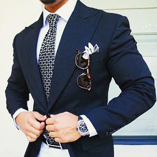 Picture of Navy Blue Jacket with White Trousers