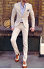 Picture of Cream slim fit two-piece suit