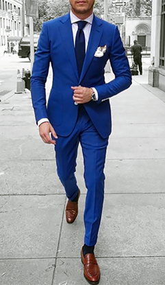 Picture of Skinny fit blue two-piece suit
