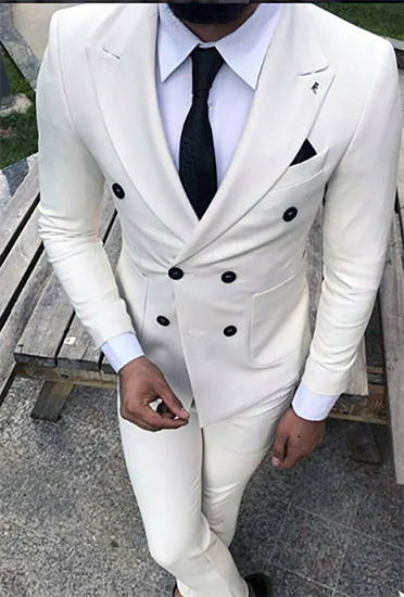The Drop Bespoke Suits Made For You White Two Piece Suit