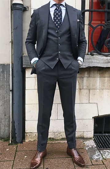 Picture of Dark grey three-piece suit