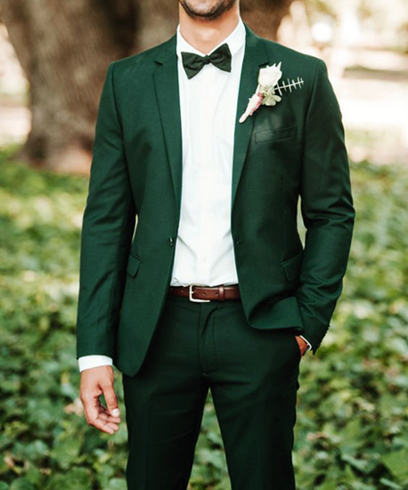 Picture of Green two piece suit