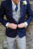 Picture of Blue Jacket with grey waistcoat and trousers
