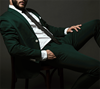 Picture of Green single breasted two-piece suit