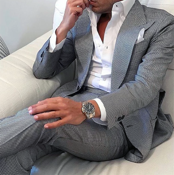 The Drop Bespoke Suits Made For You Grey Slim Fit Two Piece Suit