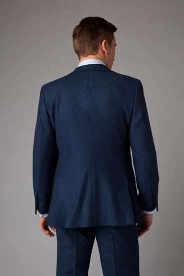 Picture of Blue tweed effect three-piece suit