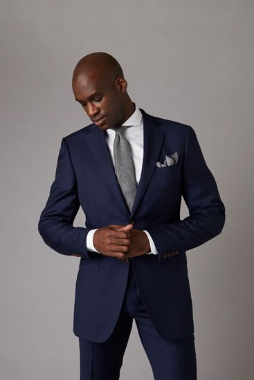 Picture of Navy blue two-piece suit