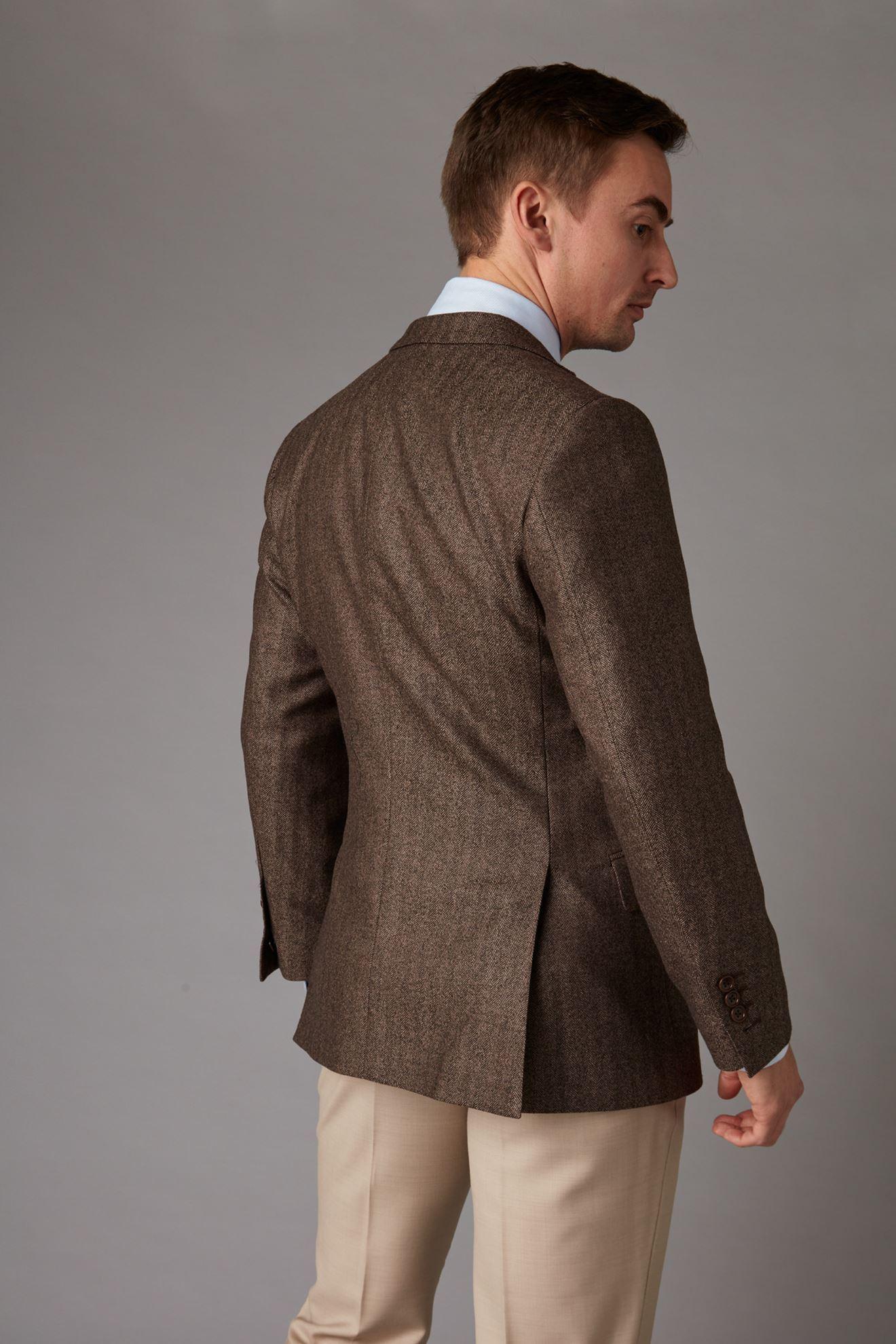 Brown tweed jacket back