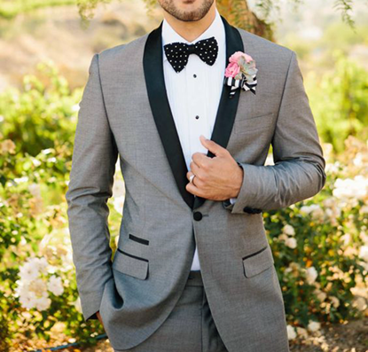 Picture of Grey slim fit two-piece tuxedo