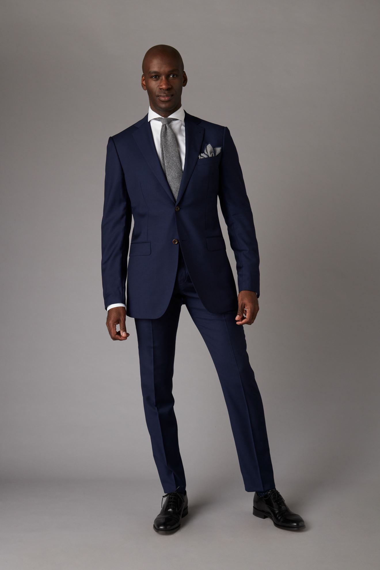 The Drop Bespoke Suits Made For You Navy Blue Two Piece Suit