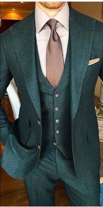 Picture of Green Peaky Winter Three-Piece Suit