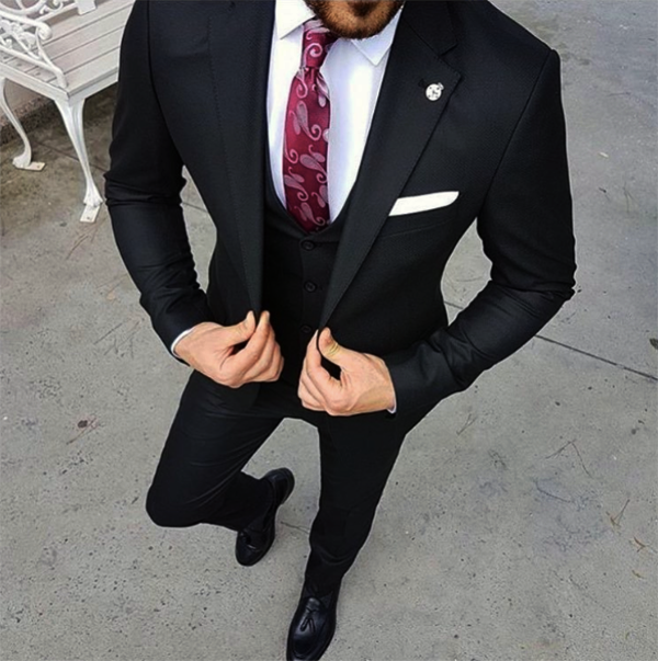 Picture of Black three-piece suit