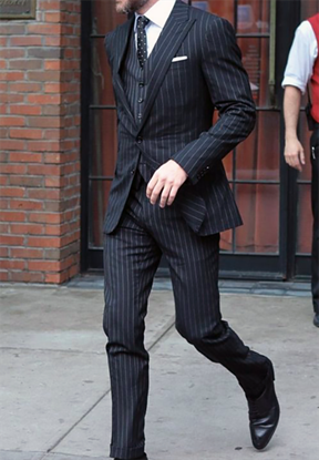 Picture of Black pin-striped two-piece suit