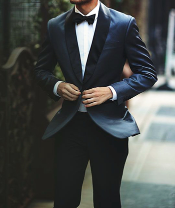 Picture of Blue two-piece tuxedo