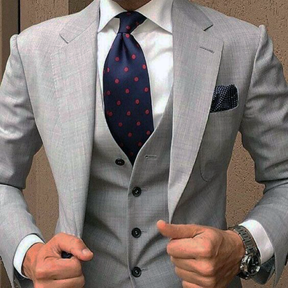 Picture of Light Grey Three Piece Suit